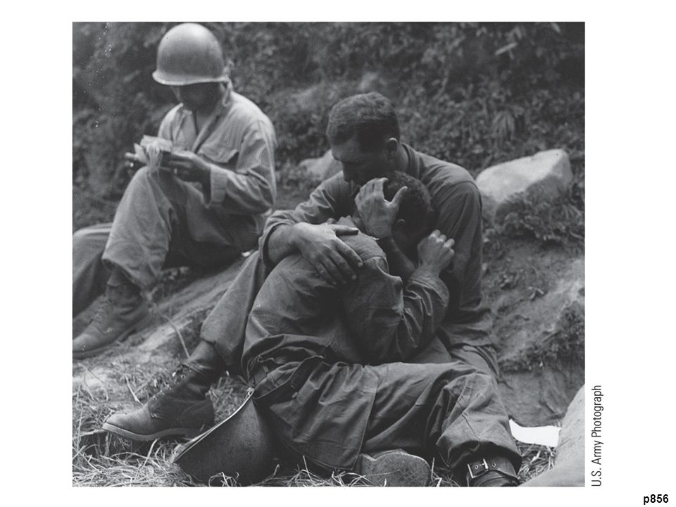 Korean War Scene A grief-stricken American soldier