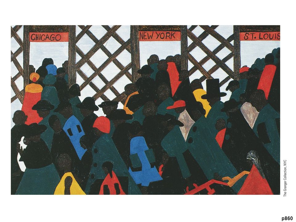 The Migration of the Negro, by Jacob Lawrence, 1940–1941 Artist Jacob Lawrence