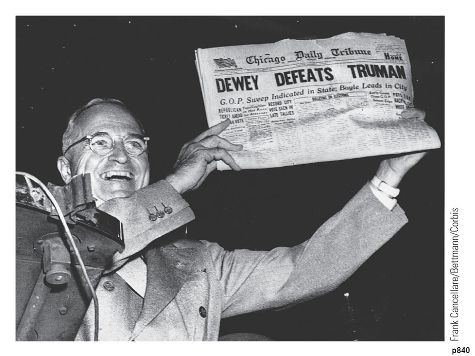 That Ain't the Way I Heard It! Truman wins.