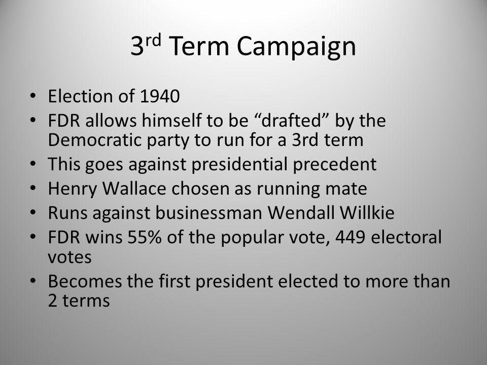 3rd Term Campaign Election of 1940