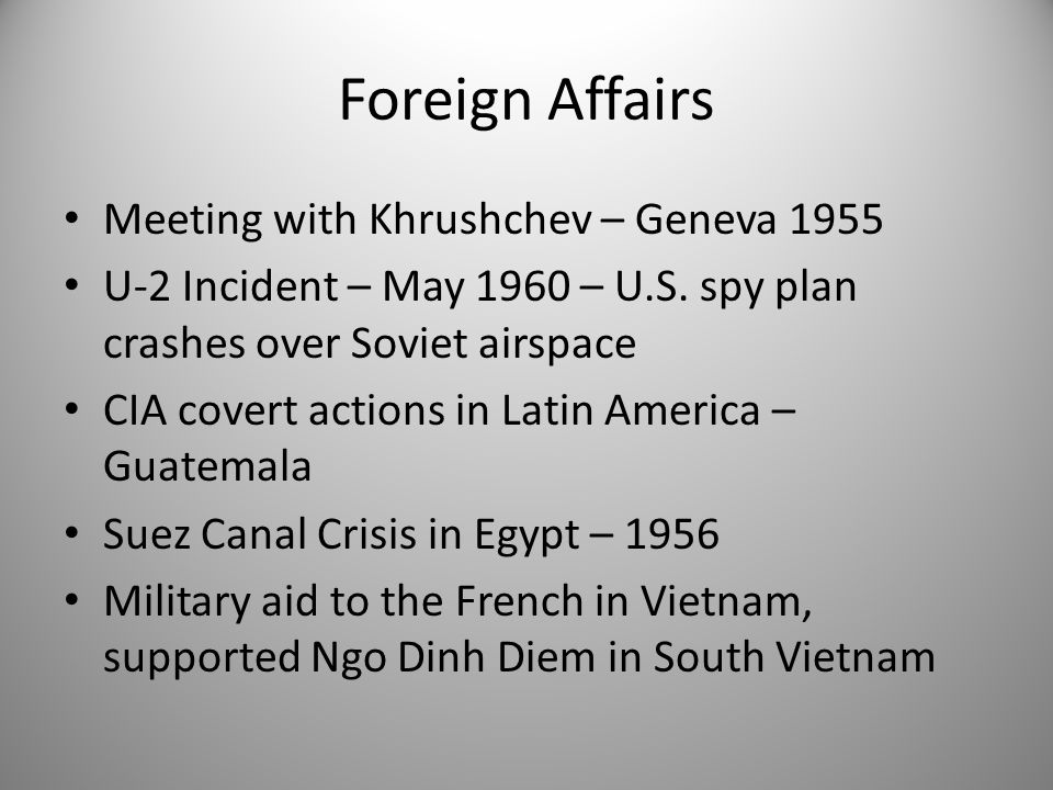 Foreign Affairs Meeting with Khrushchev – Geneva 1955