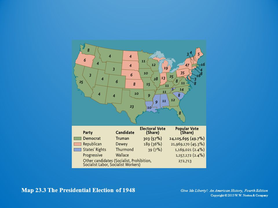 Map of Presidential Election of 1948