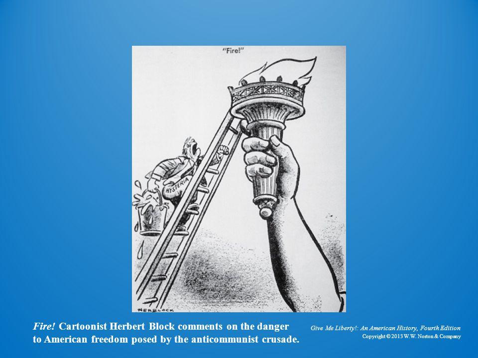 Cartoon Fire! Fire! Cartoonist Herbert Block comments on the danger