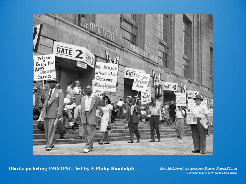 Photo of Blacks Picketing 1948 Democratic National Convention