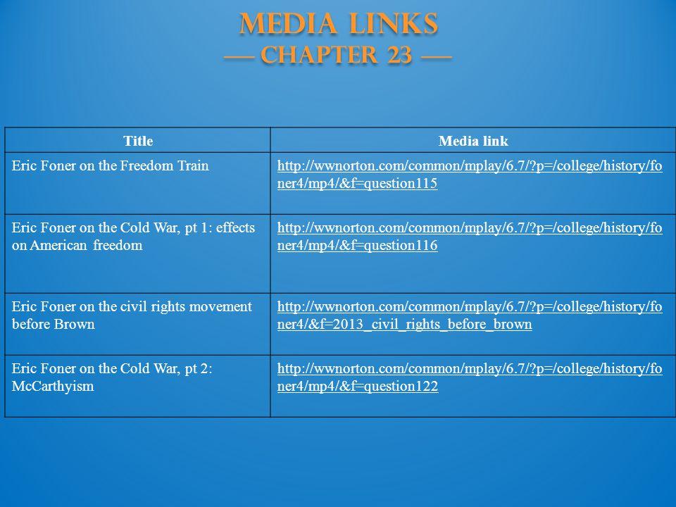 MEDIA LINKS —— Chapter 23 ——