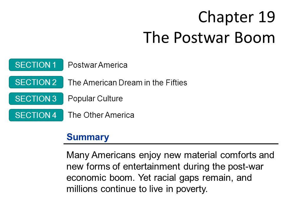 Chapter 19 The Postwar Boom