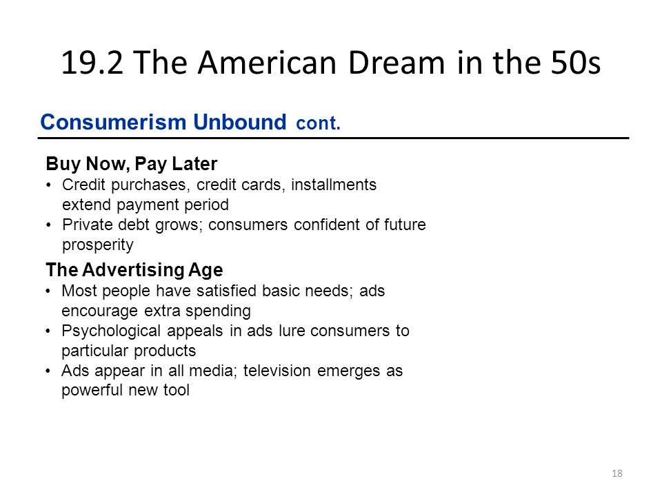 19.2 The American Dream in the 50s
