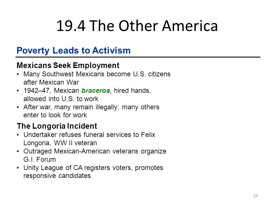 19.4 The Other America Poverty Leads to Activism
