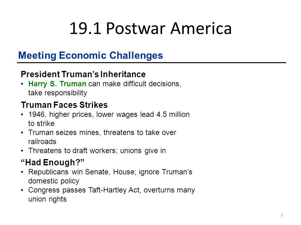 19.1 Postwar America Meeting Economic Challenges