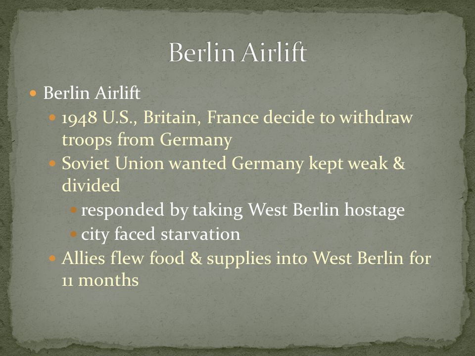 Berlin Airlift Berlin Airlift