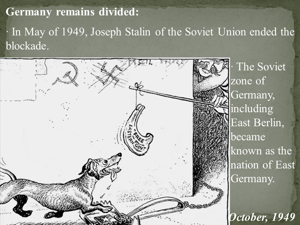 Germany remains divided: