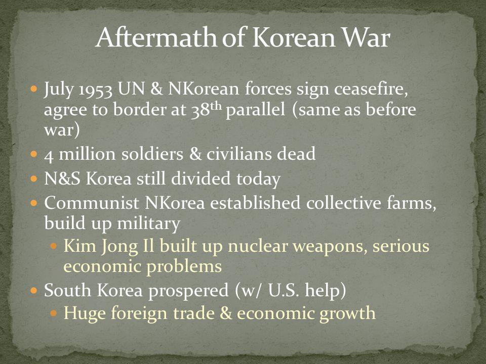 Aftermath of Korean War