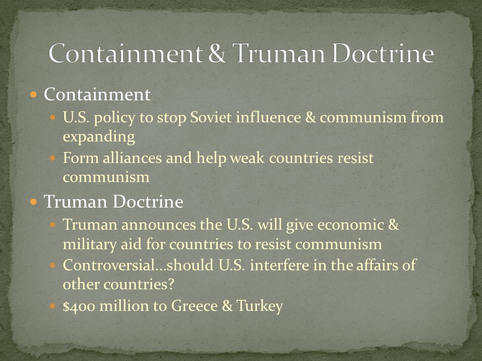 Containment & Truman Doctrine