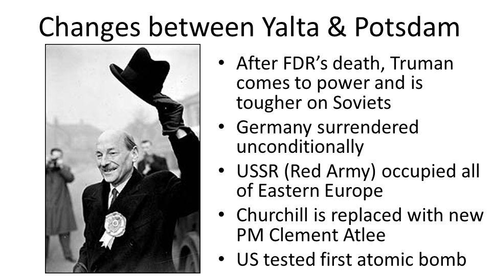 Changes between Yalta & Potsdam