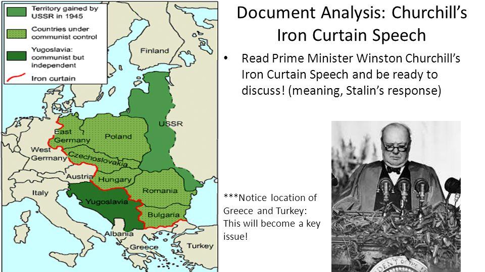 Document Analysis: Churchill's Iron Curtain Speech
