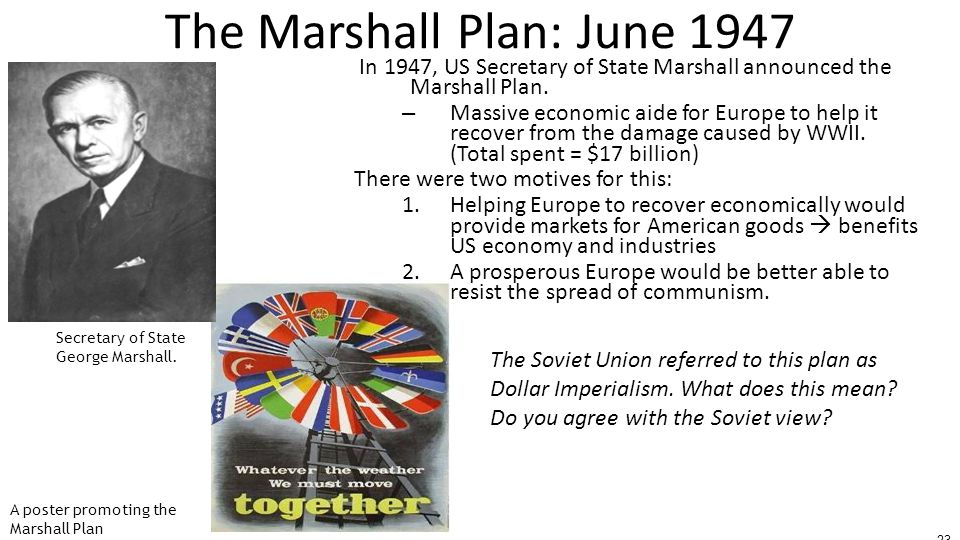 The Marshall Plan: June 1947