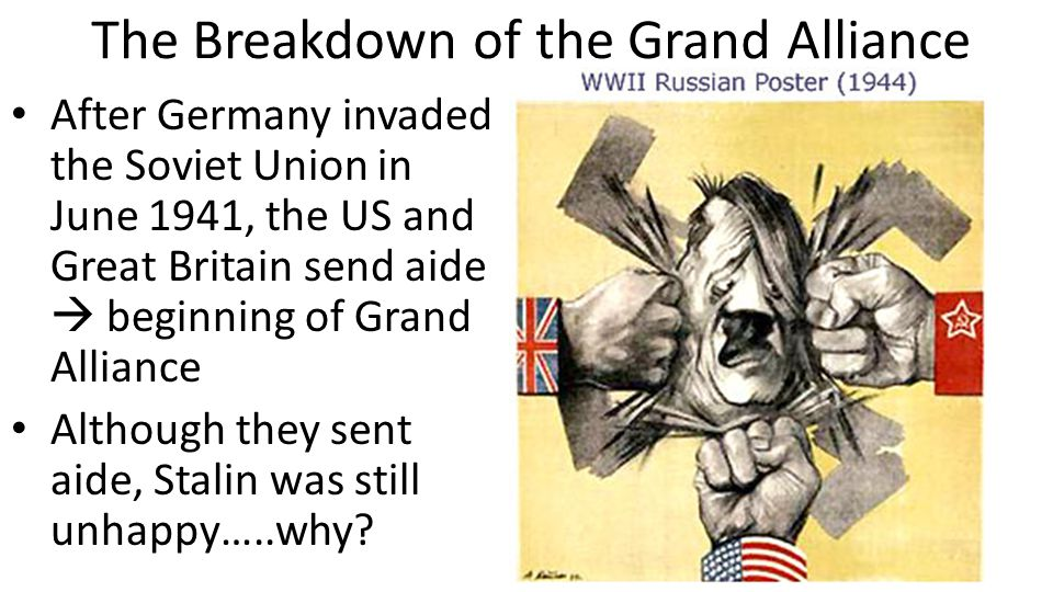The Breakdown of the Grand Alliance