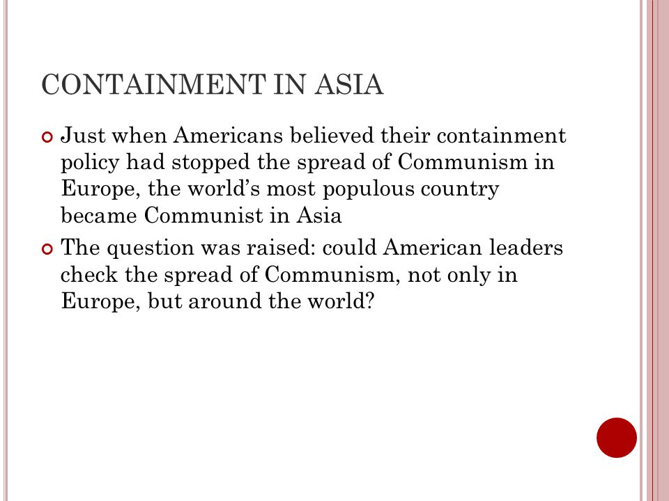 CONTAINMENT IN ASIA