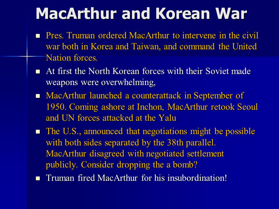 MacArthur and Korean War