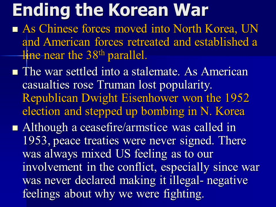 Ending the Korean War Unit 9 Notes #2.