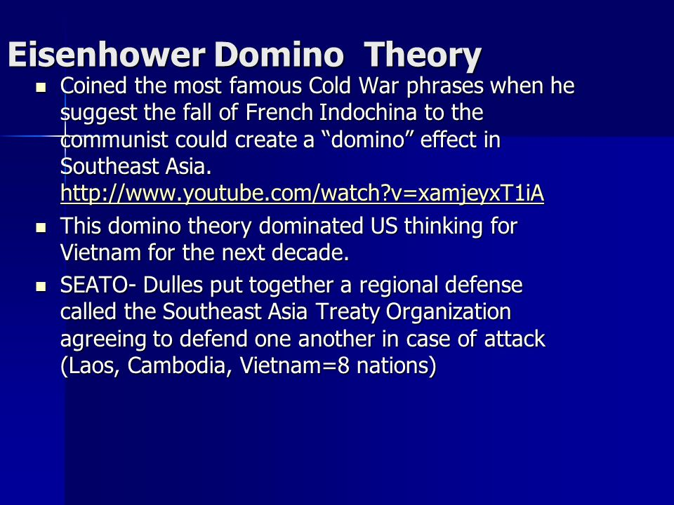 Eisenhower Domino Theory