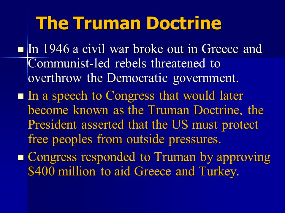 Unit 9 Notes #2 The Truman Doctrine.
