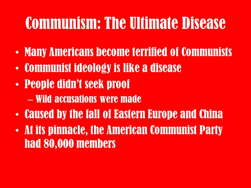 Communism: The Ultimate Disease