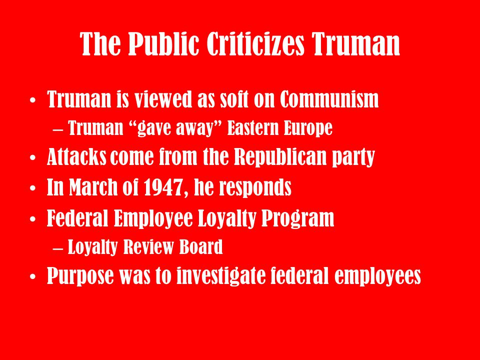 The Public Criticizes Truman