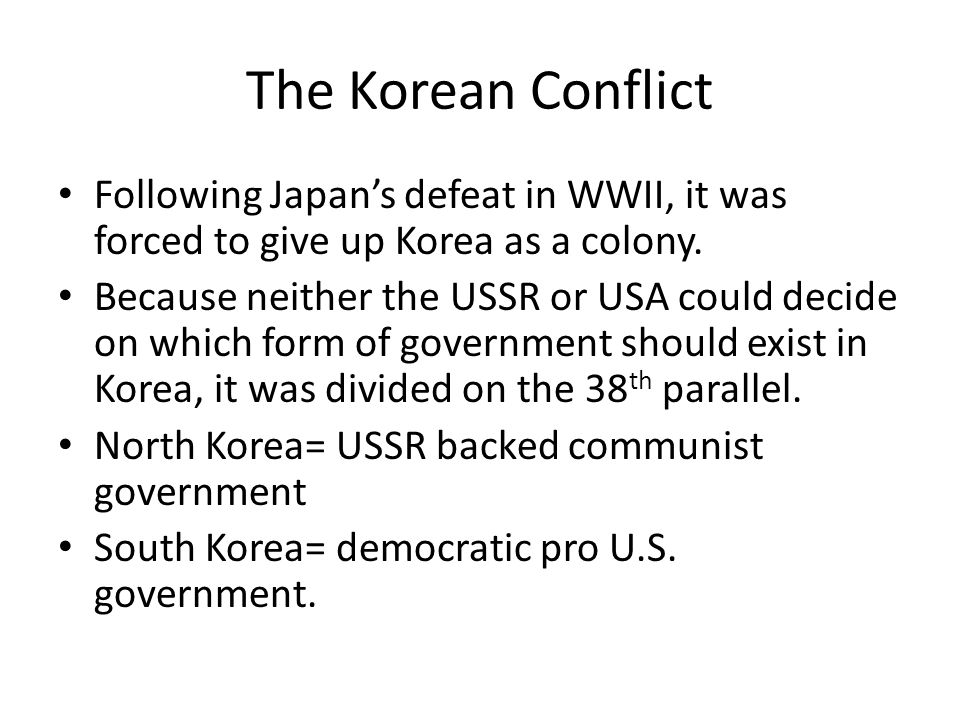 The Korean Conflict Ch ppt download