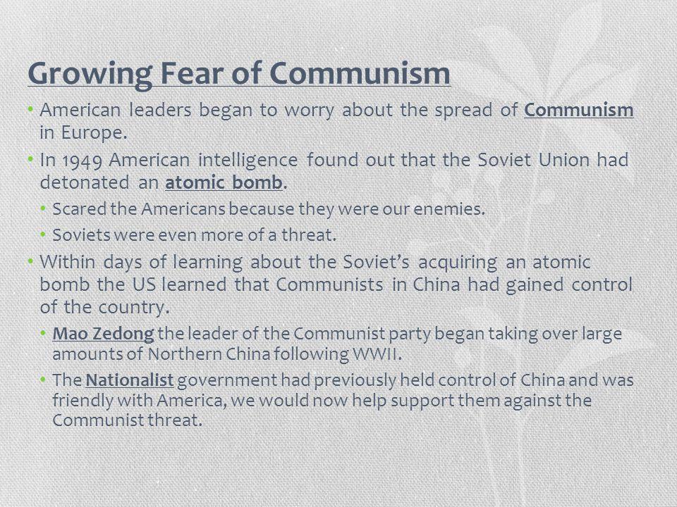 Growing Fear of Communism