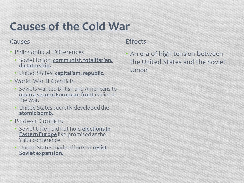 the cold war and its effects on the united states During the cold war americans were on their best behavior  culture of the united states of america how did the cold war affect american society.