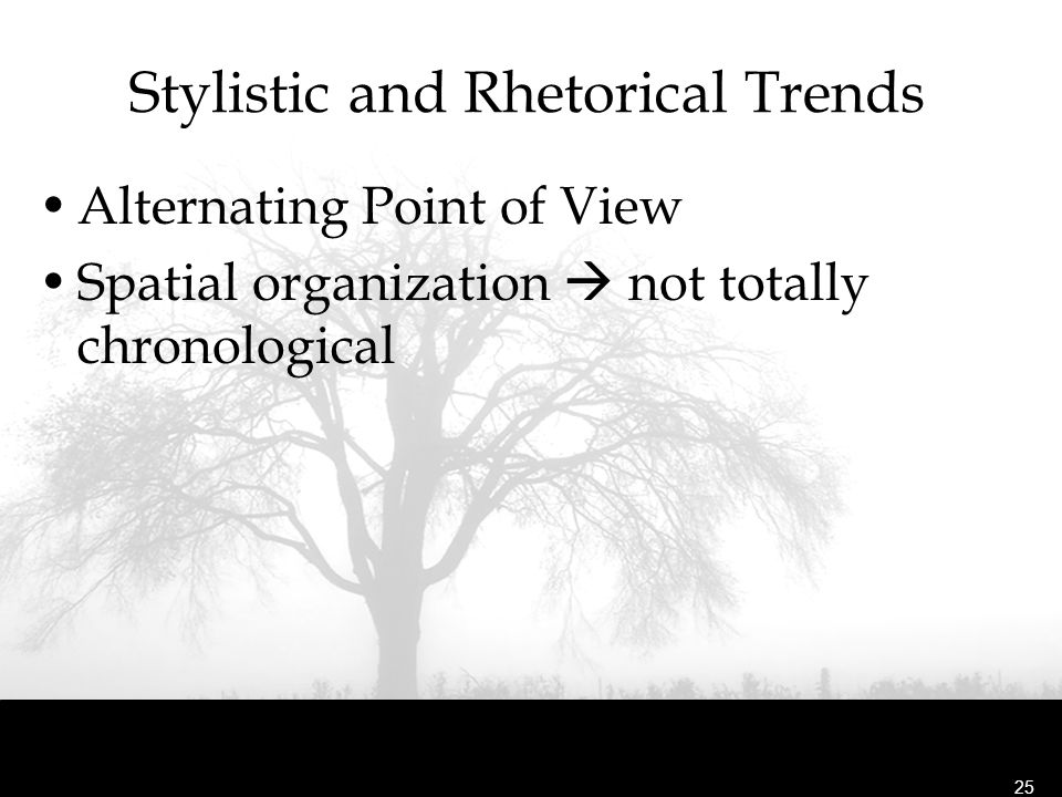 Stylistic and Rhetorical Trends