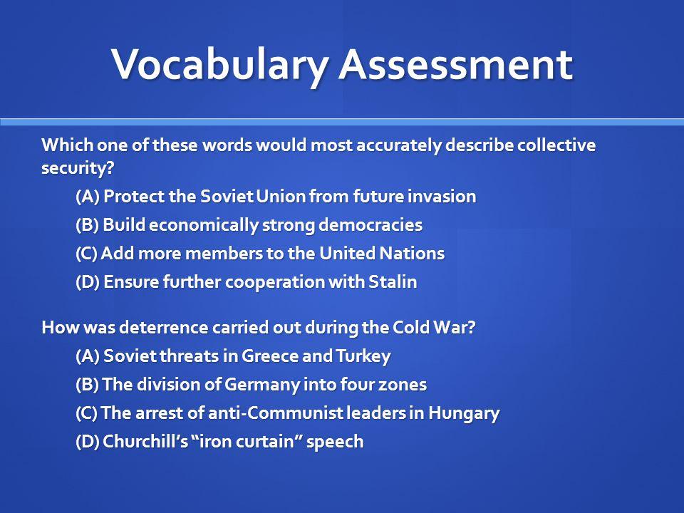 Vocabulary Assessment