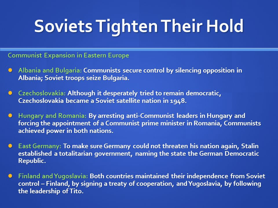 Soviets Tighten Their Hold