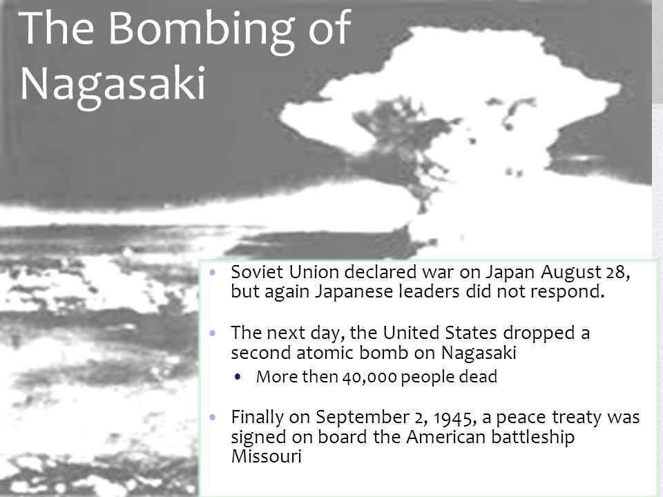 The Bombing of Nagasaki