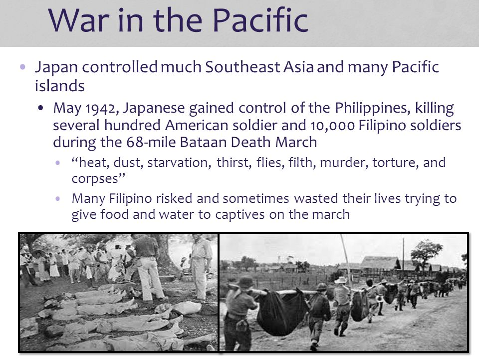 War in the Pacific Japan controlled much Southeast Asia and many Pacific islands.