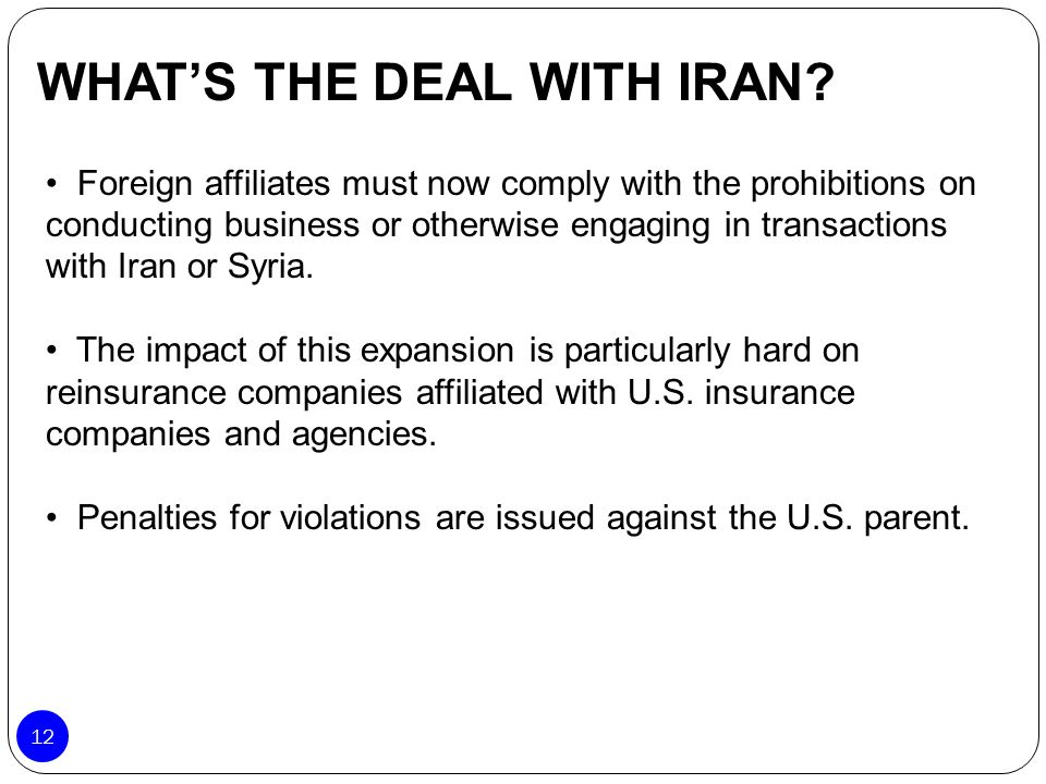 WHAT'S THE DEAL WITH IRAN
