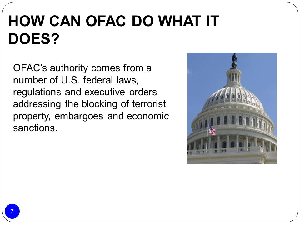 HOW CAN OFAC DO WHAT IT DOES