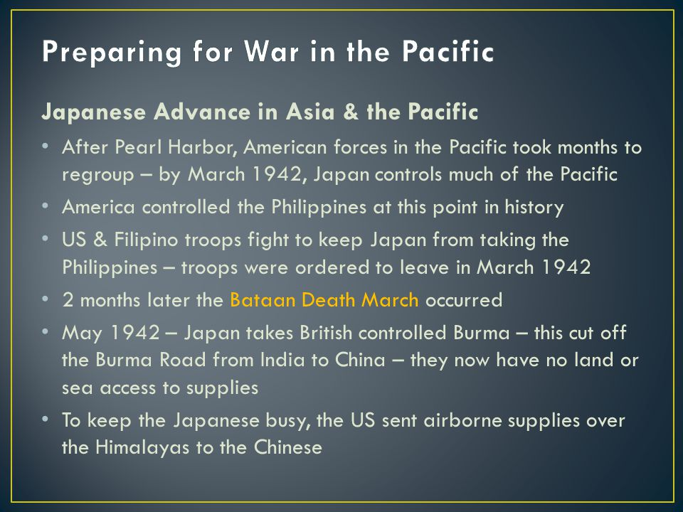 Preparing for War in the Pacific