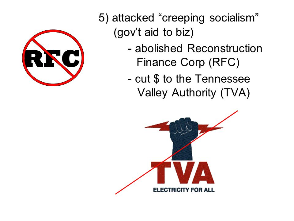 RFC 5) attacked creeping socialism (gov't aid to biz)