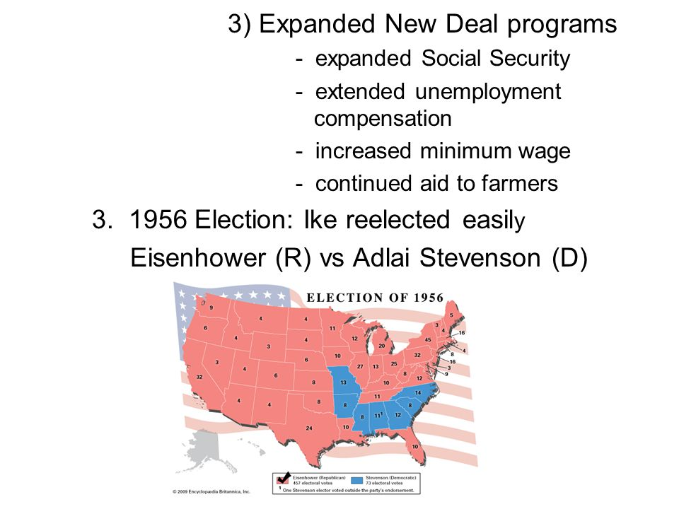 3) Expanded New Deal programs - expanded Social Security