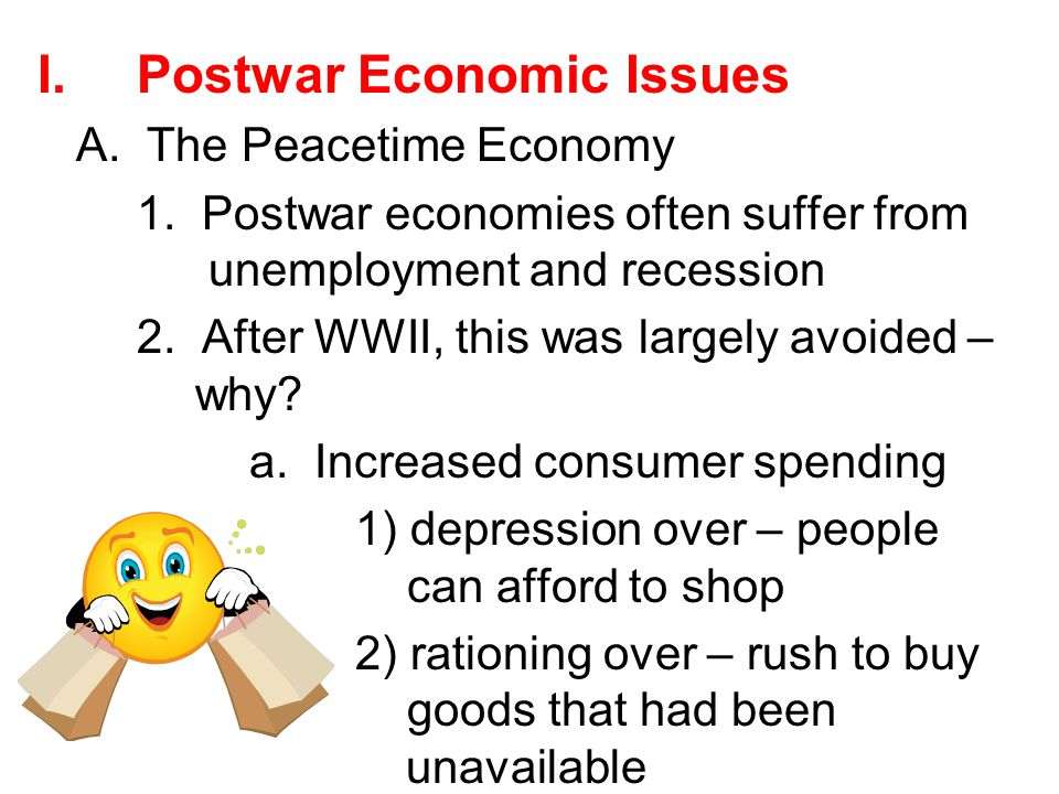 Postwar Economic Issues