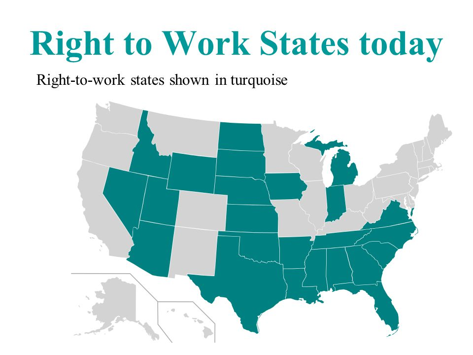 Right to Work States today