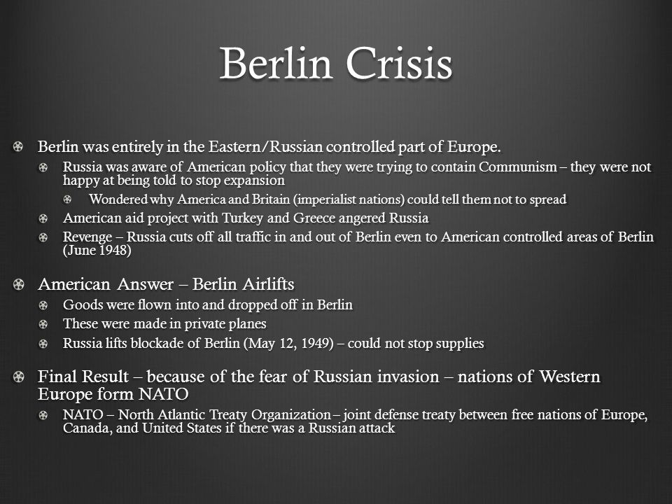 Berlin Crisis American Answer – Berlin Airlifts