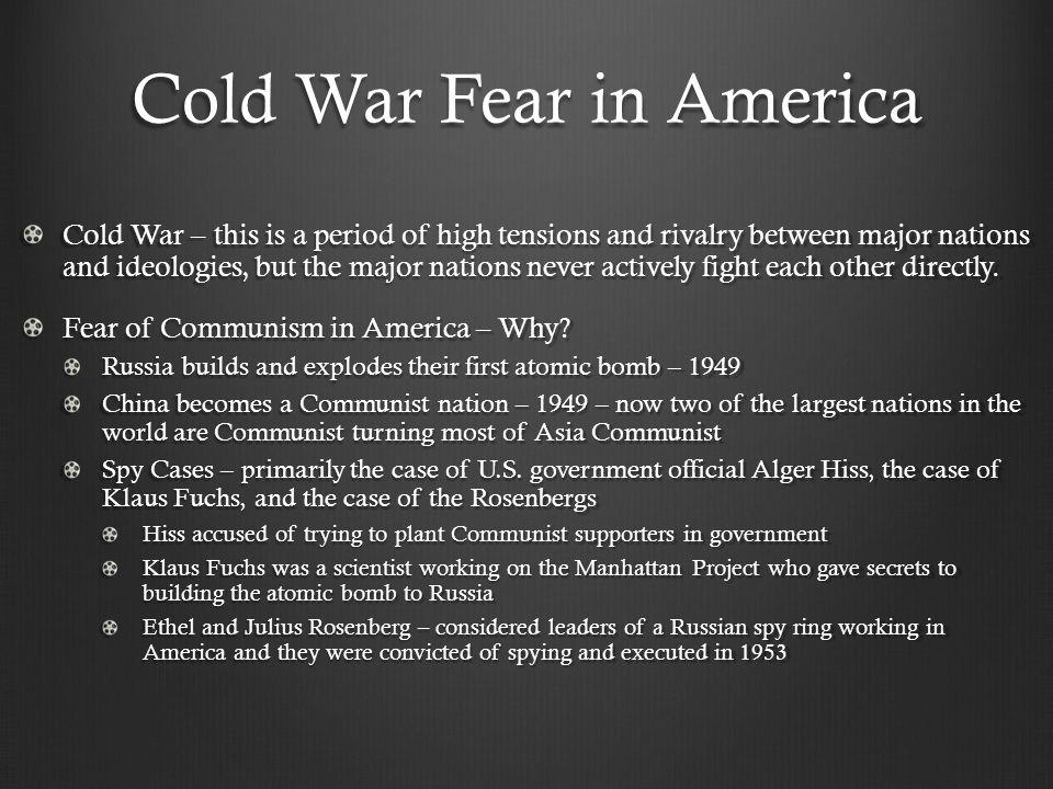 Cold War Fear in America