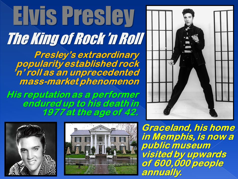 Elvis Presley The King of Rock 'n Roll