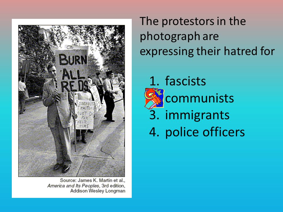 fascists communists immigrants police officers