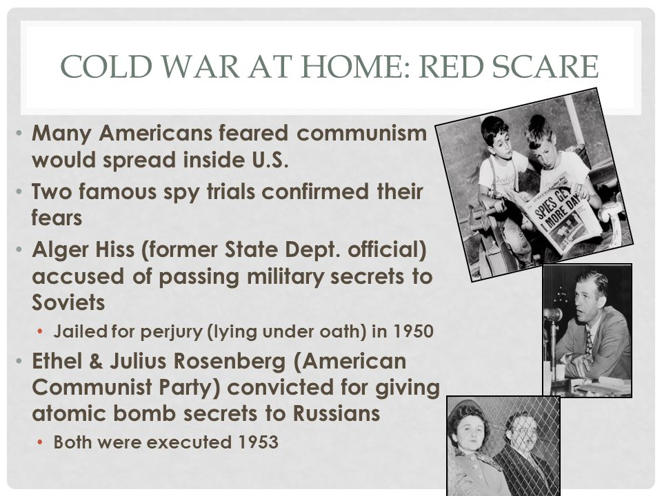 Cold war at home: red scare