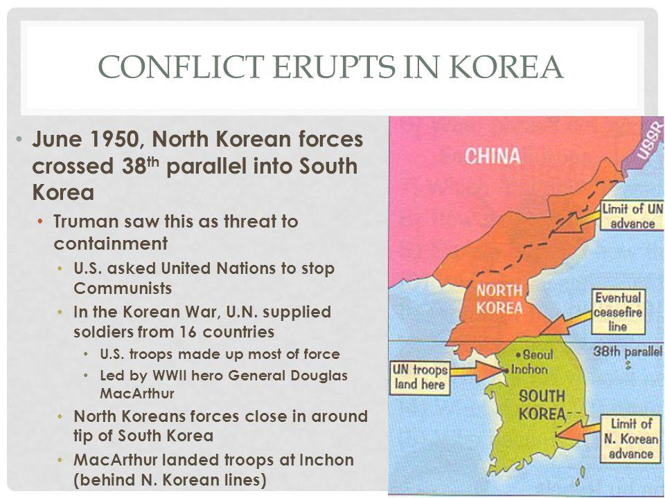 Conflict erupts in Korea