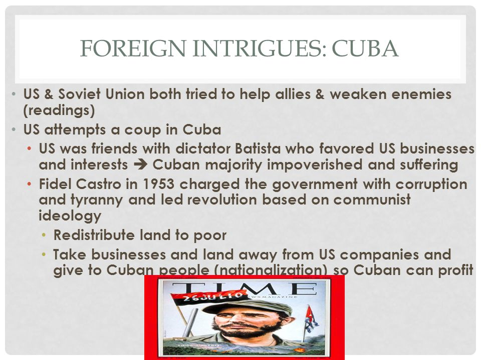 Foreign intrigues: Cuba